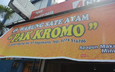 Sate Pak Kromo, Sate Ayam Jogja, PAket Wisata Jogja